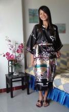 Black Geisha Kimono Robe :: Kimono Robes