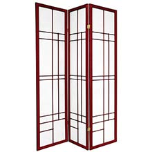 Hinaga Japanese Shoji Screen (Rosewood Finish) :: Japanese Shoji Screens
