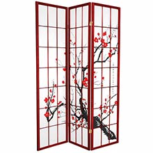 Japanese Cherry Blossom (Rosewood Finish) :: Japanese Shoji Screens