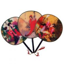 3 Pack - Traditional Japanese Paddle Fan Set :: mixed fan set