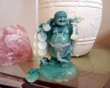 Lucky Money Buddha (Jade Color) :: Buddhist Statues