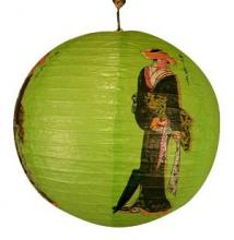 Green Geisha Lantern :: Chinese Lanterns