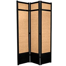 "84"" Jute Screen (Black Finish) :: 84"" Tall Shoji Screens"