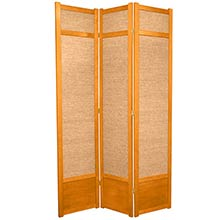 "84"" Jute Screen (Honey Finish) :: 84"" Tall Shoji Screens"