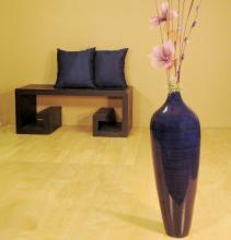 "24"" Bamboo Pod Floor Vase - Dark Sapphire :: Bamboo Decor"