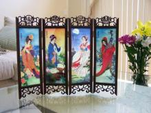 12 inch Chinese Muses :: Mini Tabletop Screens