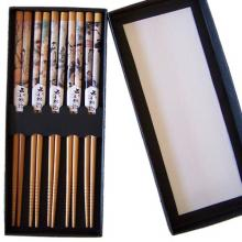 Chinese Icons Set of 5 Bamboo Chopsticks :: Designer Chopsticks