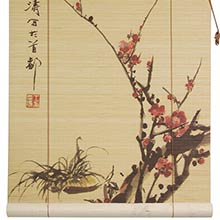 Sakura Cherry Blossom Bamboo Blinds :: Window Blinds