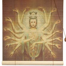 Thousand Armed Kwan Yin Bamboo Blinds :: Window Blinds