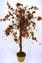 5 1/2 foot Red Cherry Blossom Tree :: Artificial House Plants