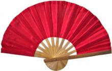 Red Bamboo Hand Fan