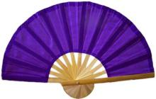 Purple Bamboo Hand Fan