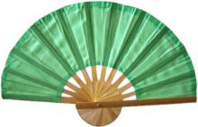 Light Green Bamboo Hand Fan ::