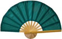 Dark Green Bamboo Hand Fan ::