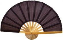 Brown Bamboo Hand Fan :: Asian Hand Fans