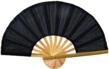Black Bamboo Hand Fan ::