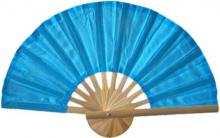 Aqua Bamboo Hand Fan :: Asian Hand Fans
