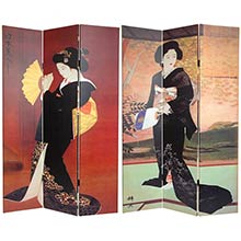 Beautiful Geisha Screen :: Double Sided Shoji Screens
