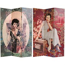 Shanghai Ladies Screen :: Double Sided Shoji Screens