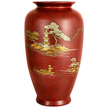 Red Tung Chi Vase ::