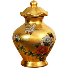 Gold Temple Jar :: Porcelain Vases