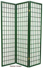 Hunter Green Japanese Window Screen :: Decorator Colored Screens