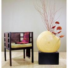 "24"" Giant Angled Circle Vase - Oak :: Bamboo Decor"