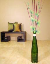 "24"" Tall Green Bud Floor Vase :: Bamboo Decor"