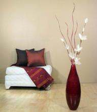 "24"" Teardrop Red Bamboo Vase ::"