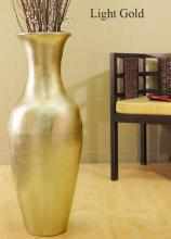 "28"" Classic Floor Urn in Light Gold :: Bamboo Decor"