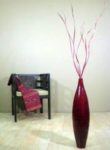 "30"" Bamboo Ellipse Floor Vase :: Bamboo Decor"