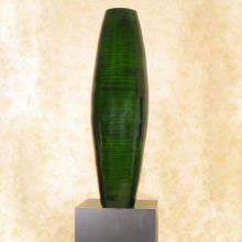 "36"" Emerald Bamboo Cylinder Large Floor Vase :: Bamboo Decor"