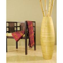 "36"" Bamboo Oval Cylinder Vase - Natural Color :: Bamboo Decor"