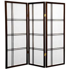 "48"" Zen Shoji Screen (Walnut Finish) :: 48"" Short Shoji Screens"