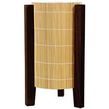 Kago Lamp (Walnut Finish) :: Bamboo Decor