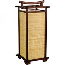 Nara Lamp (Walnut Finish) :: Bamboo Decor