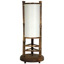 "20"" Koru Japanese Bamboo Lamp :: Chinese Lamps"