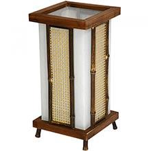 """13"""" Matsu Wood and Bamboo Shoji Lantern :: Chinese Lamps"""
