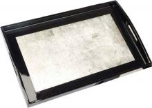 Rectangular Silver Lacquered Tray :: Oriental Serving Trays