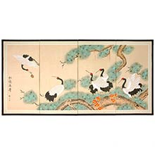 Homeward Bound :: Japanese Silk Paintings