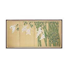 Bamboo Escape :: Japanese Silk Paintings