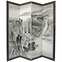 Misty Mountain Shoji Screen :: Traditional Shoji Screens