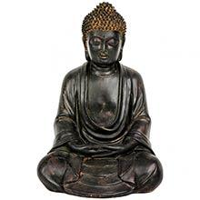 """9.5"""" Japanese Sitting Buddha Statue :: Buddhist Statues"""