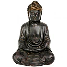 "9.5"" Japanese Sitting Buddha Statue ::"