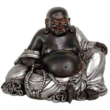 """7"""" Sitting Lucky Buddha Statue :: Buddhist Statues"""