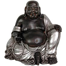 "11"" Sitting Happy Buddha Statue :: Buddhist Statues"