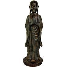 "22"" Standing Japanese Zen Monk Statue :: Buddha Decor"