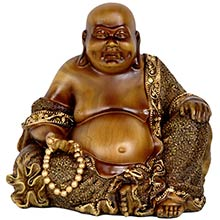 "6"" Sitting Laughing Buddha :: Buddhist Statues"