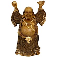 "12"" Standing Prosperity Buddha Statue :: Buddhist Statues"