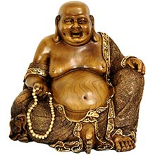 "10"" Sitting Hotei Happy Buddha Statue"